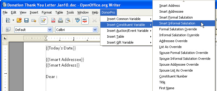 Create and Store a New Document using OpenOffice org